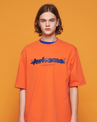 ★썸머세일★PAINTING COLOR T-SHIRT (ORANGE)