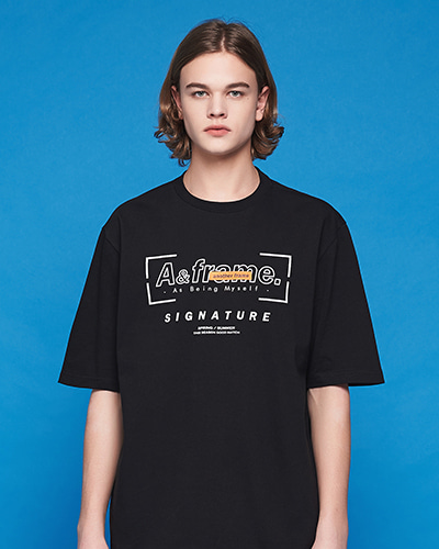 SIGNATURE LOGO T-SHIRT (BLACK)