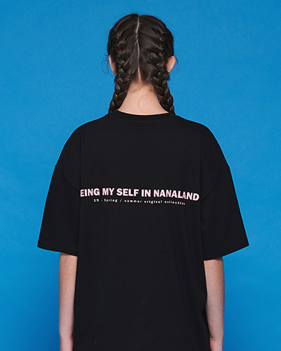 ★썸머세일★MY NANALAND T-SHIRT (BLACK)