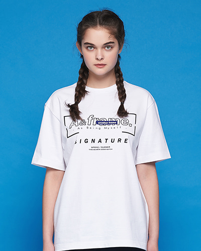 SIGNATURE LOGO T-SHIRT (WHITE)