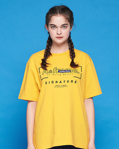 SIGNATURE LOGO T-SHIRT (YELLOW)