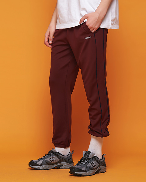 AF PIPING TRACK JOGGER PANTS (BURGUNDY)