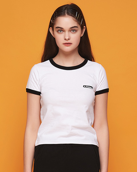 MILK COLOR RINGER T-SHIRT (WHITE)