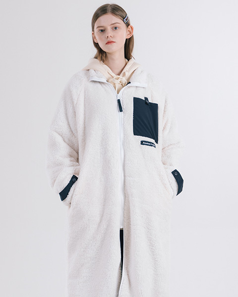 AF LONG FLEECE JACKET (IVORY)