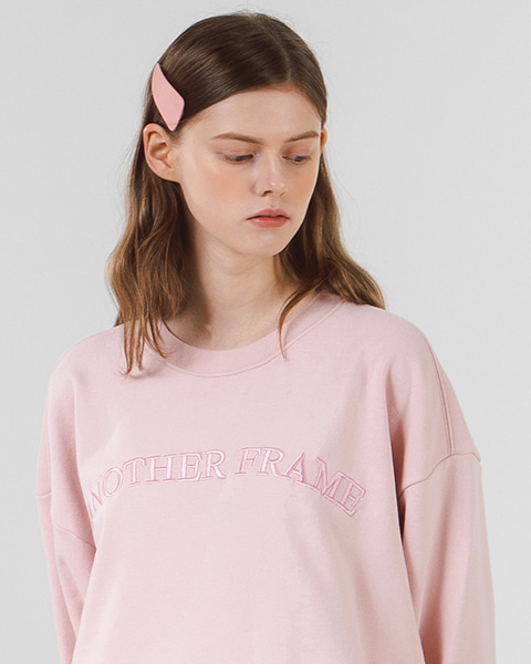 [쭈리]ANOTHER BASIC LOGO CREWNECK (INDI PINK)